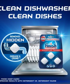 Finish In-wash Dishwasher Cleaner: Clean Hidden Grease and Grime, 3ct