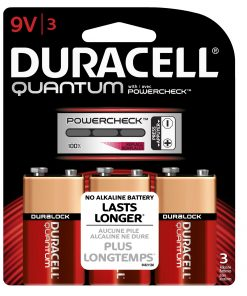 Duracell Quantum Alkaline 9V, 3 Count
