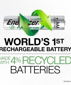 Energizer Rechargeable 850mAh AAA Batteries (4 Pack)