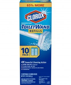 Clorox ToiletWand Disinfecting Refills, Disposable Wand Heads – 10 Count