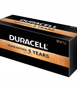 Duracell Coppertop Alkaline 9V Battery – MN1604, 12 / Box (Quantity)