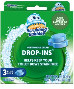 Scrubbing Bubbles Continuous Clean Drop-Ins, Blue Discs, 3 ct, 4.23 oz