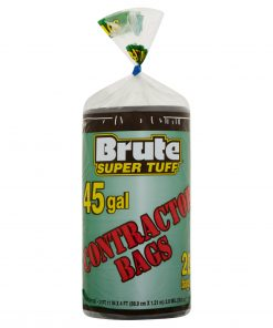 Brute Super Tuff® Contractor Bags, 45 Gallon, 20 Bags (Twist Tie)