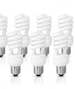 (10 Pack) Circle 13 Watt (60 Watt) Compact Fluorescent Light, Cool White 4100K, Mini Spiral Medium Base CFL Light Bulbs