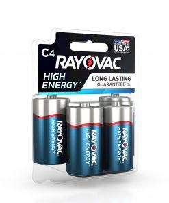 Rayovac High Energy Alkaline, C Batteries, 4 Count