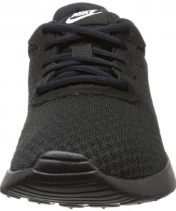 NIKE Women's Tanjun Running Shoe, Black/Black/White, Size 11.0