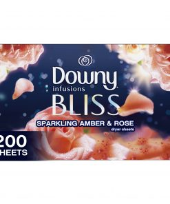 Downy Infusions Dryer Sheets, Bliss, Sparkling Amber & Rose, 200 Count