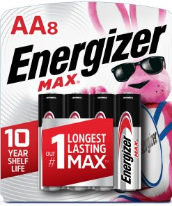 Energizer MAX AA Batteries, Alkaline Double A Batteries (8 Pack)