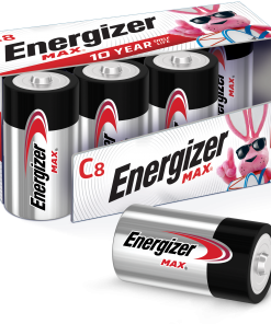 Energizer MAX C Batteries, Alkaline C Cell Batteries (8 Pack)