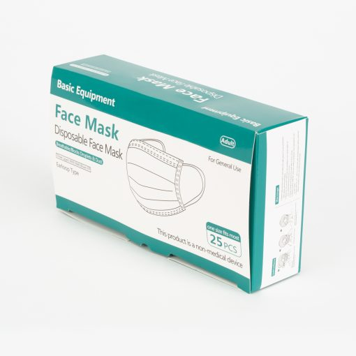 3-Ply Disposable Masks, 25 ct.