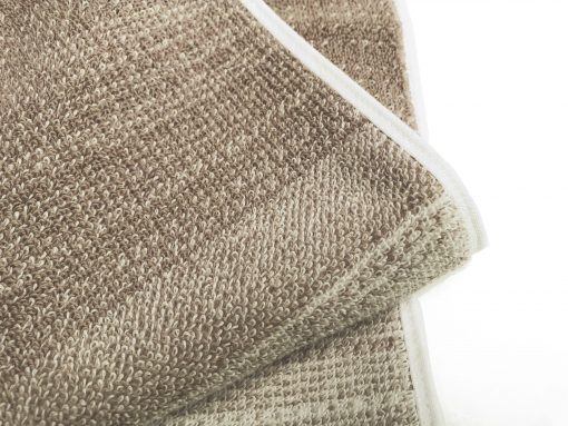 Better Homes & Gardens Thick and Plush Heathered Bath Towel, Taupe Splash/Arctic White