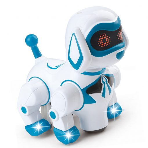 Vokodo Pet Robotic Dog Interactive Kids Toy Puppy Walks Barks Sits With Lights And Music Friendly Electronic Robot Companion Bump And Go Action Play Great Gift For Preschool Children Boy Girl Toddlers