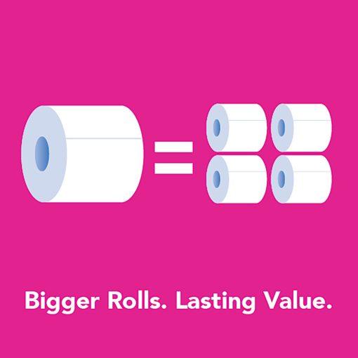 Scott ComfortPlus Toilet Paper, 12 Mega Rolls, Bath Tissue