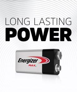 Energizer MAX 9V Batteries (8 Pack), 9 Volt Alkaline Batteries